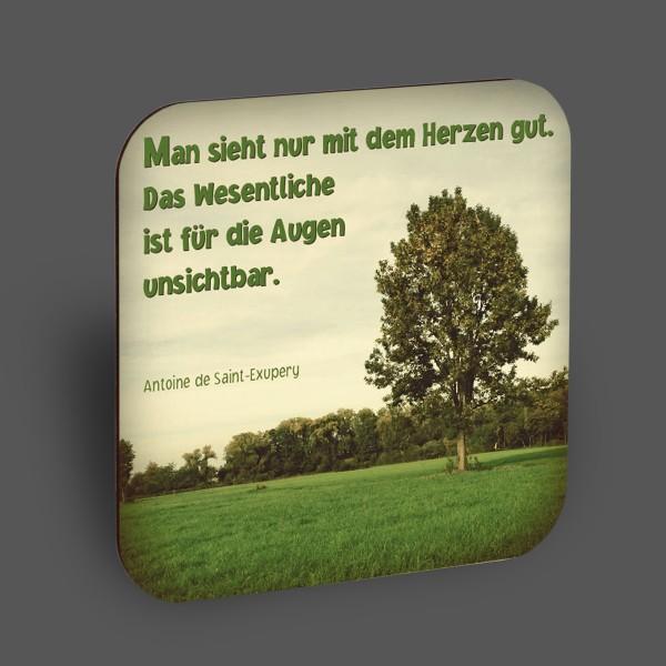 """Holzpostkarte """"Man sieht nur mit dem Herzen gut"""""""