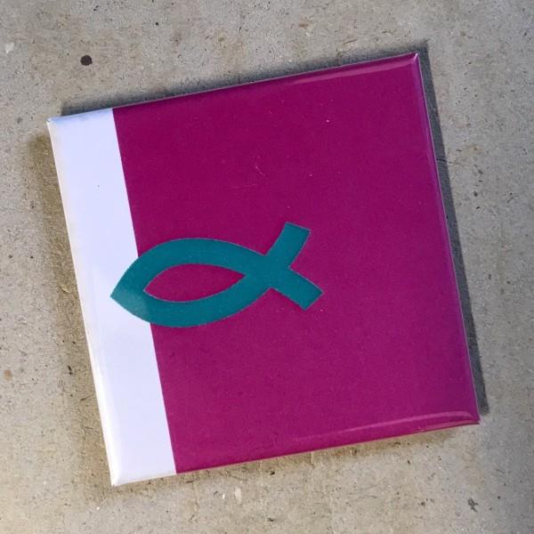 """Kühlschrankmagnet """"Fisch"""" christliches Symbol"""