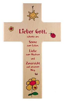 """Holzkreuz """"Sonne zum Leben"""""""
