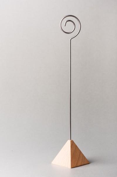 Fotohalter / Tischkarten-Ständer Pyramide - Höhe 21 cm - 10 Stück im Set