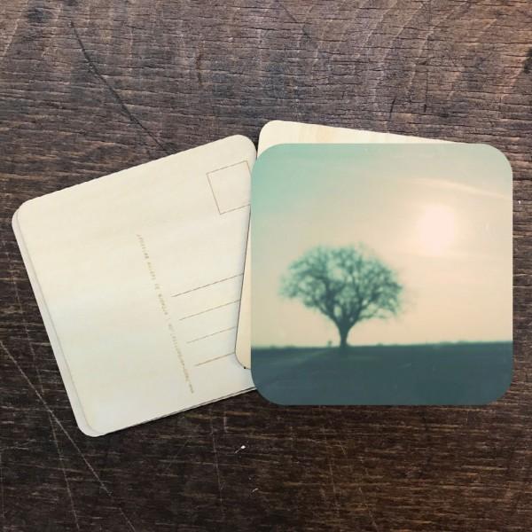 "Holzpostkarte ""Baum pastell"""