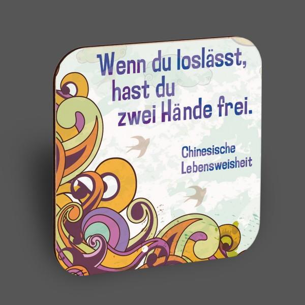 """Holzpostkarte """"Wenn du loslässt..."""""""
