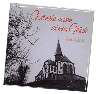 "Kühlschrankmagnet Kapelle ""Gott nahe zu sein..."""