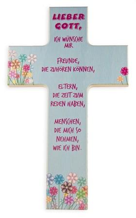 """Kinderkreuz """"Lieber Gott, ich wünsche mir..."""""""