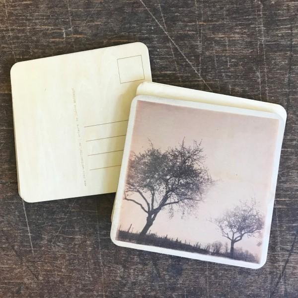 """Holzpostkarte """"Mandelbäume bei Edenkoben"""""""