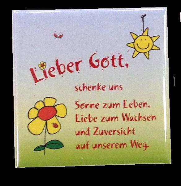 "Kühlschrankmagnet ""Sonne zum Leben"""