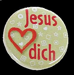 """Button """"Jesus liebt dich"""""""