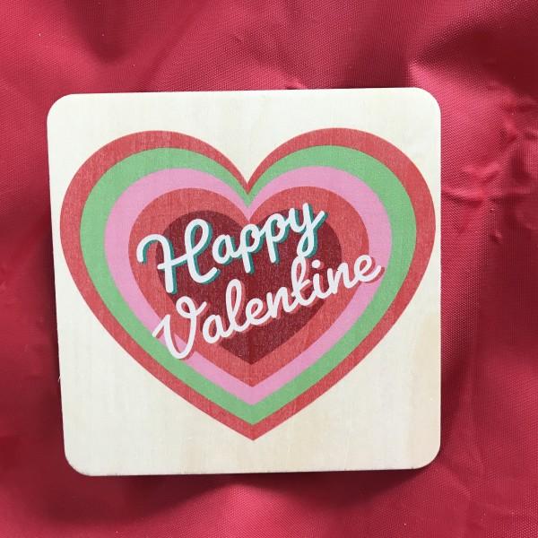 """Holzpostkarte """"Happy Valentine"""""""