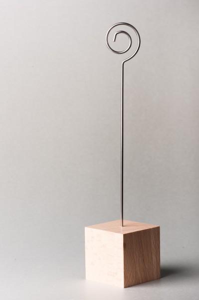 Fotohalter / Tischkarten-Ständer Kubus - Höhe 22 cm - 10 Stück im Set