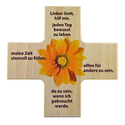 """Holzkreuz """"Bewusstsein"""" 12 x 12 cm"""