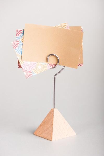 Fotohalter / Tischkarten-Ständer Pyramide - Höhe 11 cm - 10 Stück im Set