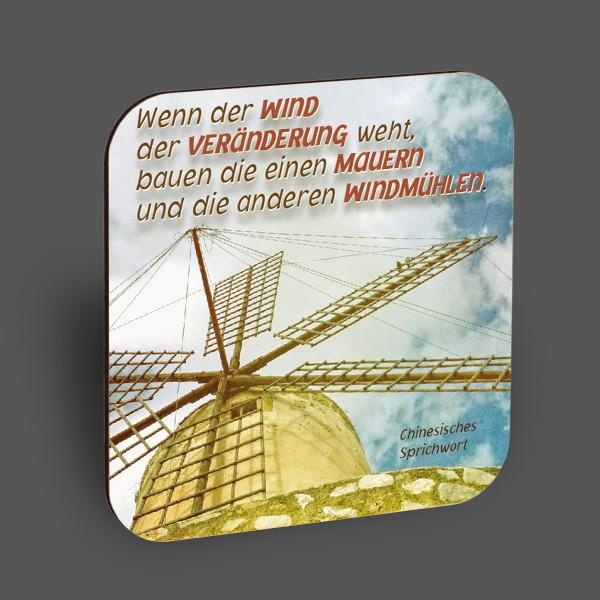 """Holzpostkarte """"Wenn der Wind der Veränderung weht..."""""""