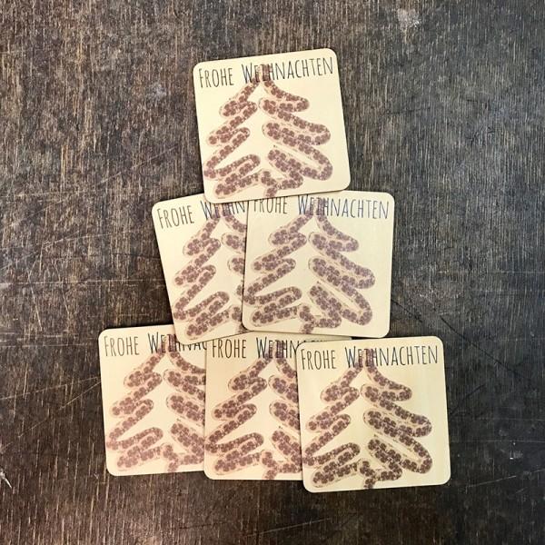 """Holzpostkarte """"Weihnachtsbaum Tannenzapfen"""""""