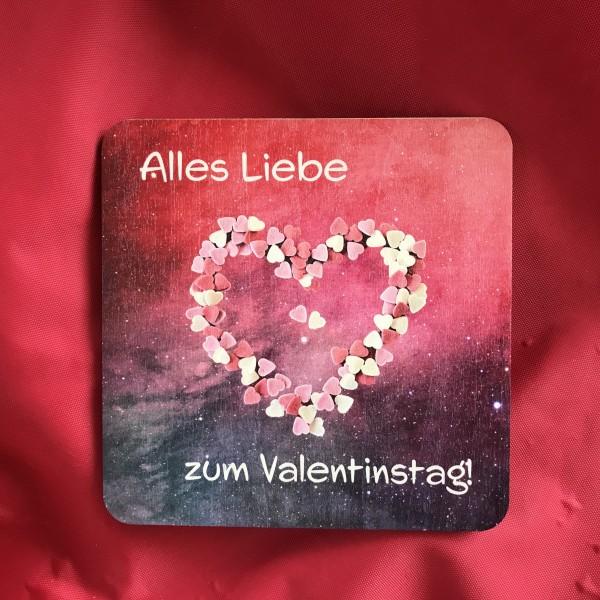 """Holzpostkarte """"Alles Liebe zum Valentinstag"""""""