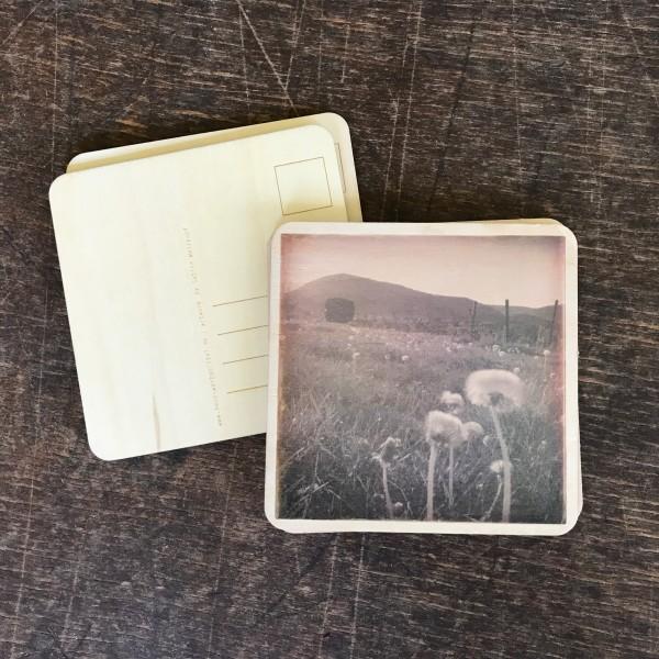 """Holzpostkarte """"Landschaft bei Edenkoben"""""""