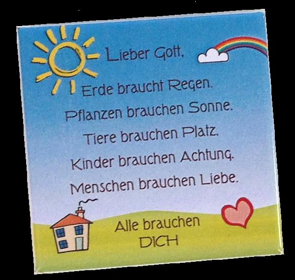 """Kühlschrankmagnet """"Leben und Liebe"""""""