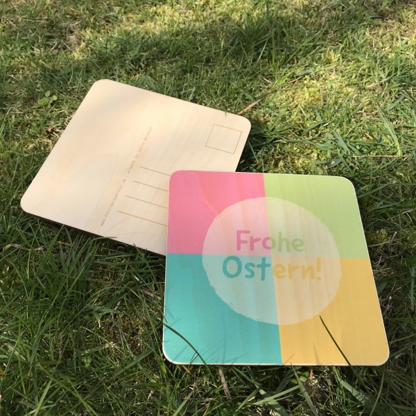 "Holzpostkarte ""Frohe Ostern"" Mosaik"