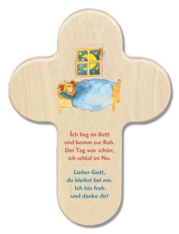 """Kinderkreuz """"Ich lieg im Bett und komm zur Ruh..."""""""