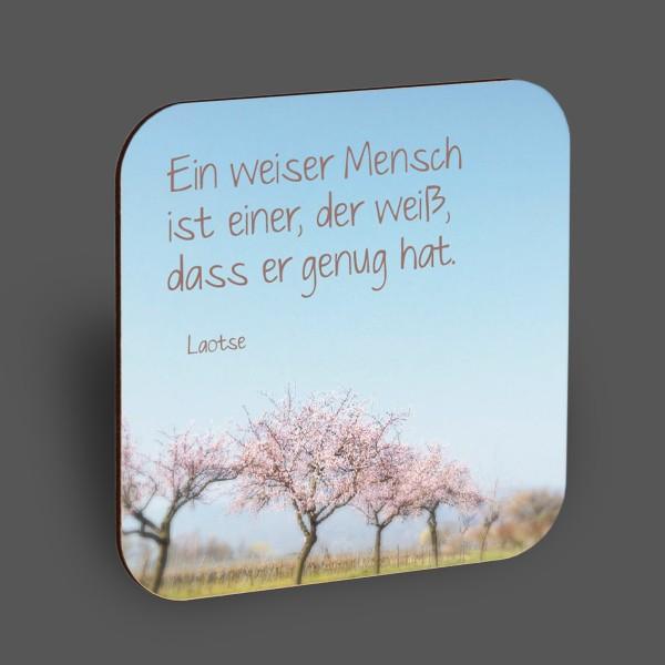 """Holzpostkarte """"Ein weiser Mensch"""""""