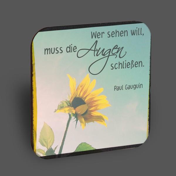 """Holzpostkarte """"Wer sehen will..."""""""