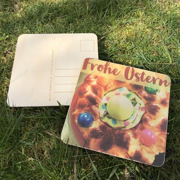 """Holzpostkarte """"Frohe Ostern"""""""