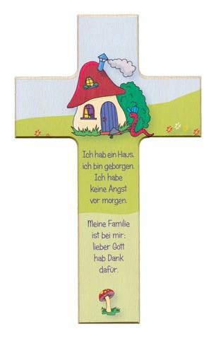 """Holzkreuz """"Ich hab ein Haus..."""""""