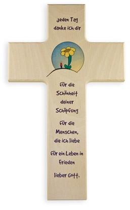 """Holzkreuz """"Dank an den Schöpfer"""""""