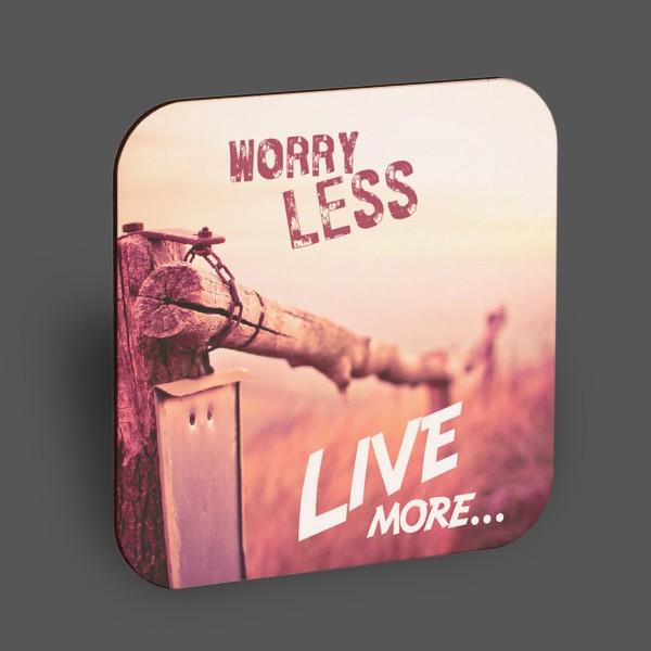 "Holzpostkarte ""Worry less..."""