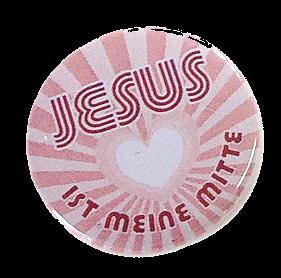"""Button """"Jesus ist meine Mitte"""""""