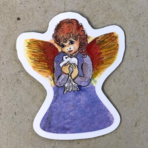 """Kühlschrankmagnet """"Engel mit Taube"""""""
