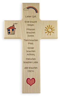 """Holzkreuz """"Leben und Liebe"""""""