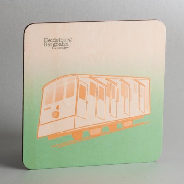 """Holzpostkarte Heidelberg """"Alte Tram"""""""