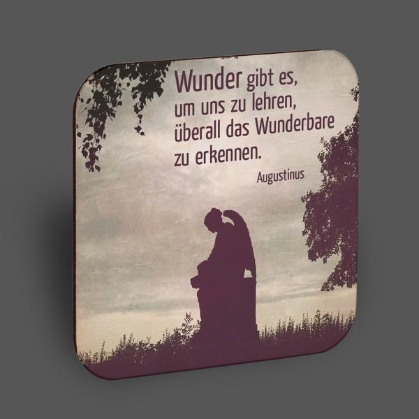 """Holzpostkarte Engel """"Wunder gibt es..."""""""