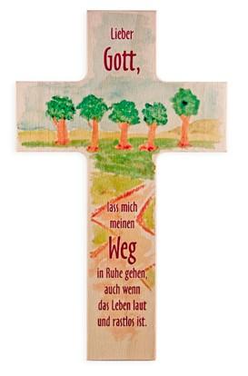 "Holzkreuz ""Ruhe auf dem Weg"""