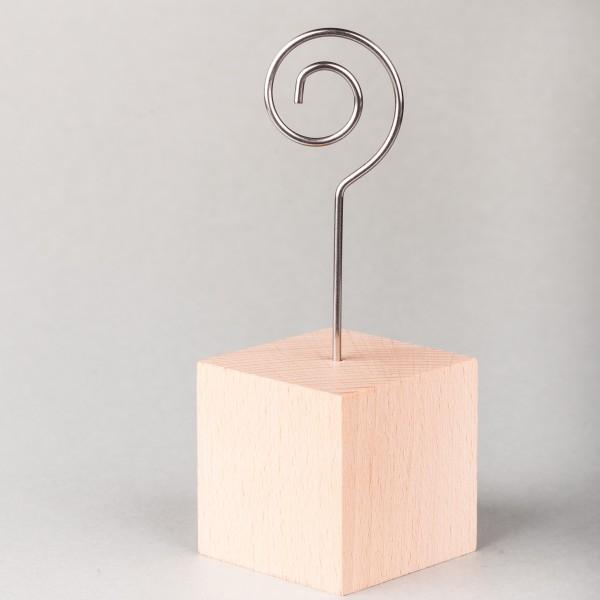 Fotohalter / Tischkarten-Ständer Würfel - Höhe 12 cm