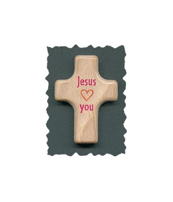 "Handschmeichler ""Jesus loves you"" orange/pink"