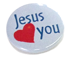 "Button ""Jesus loves you"""