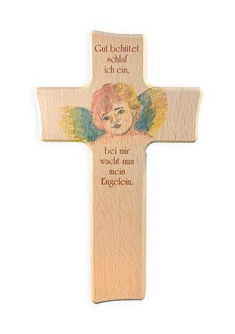 "Kinderkreuz 15 x 9 cm ""Gut behütet..."""