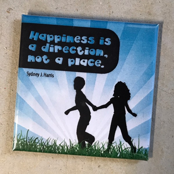 "Kühlschrankmagnet ""Happiness is a direction"""