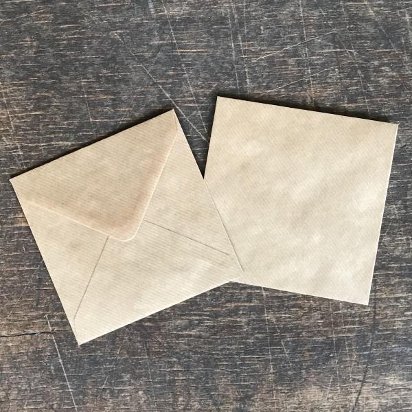 Briefumschlag 13 x 13 cm Kraftpapier braun